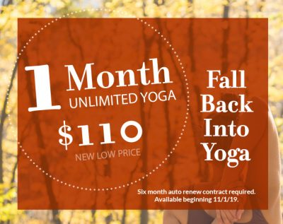 One month unlimited yoga new price