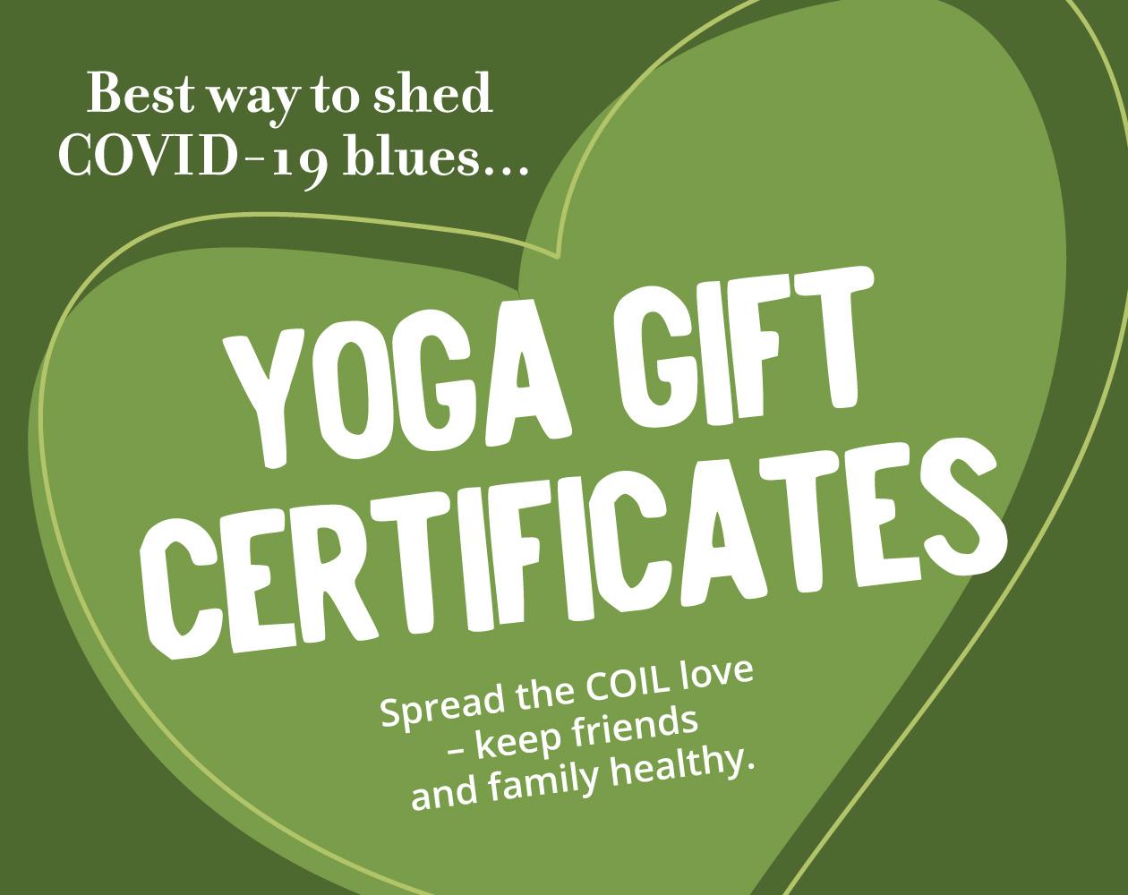 Yoga Gift Certificates